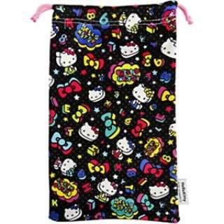 サンリオゲーム機用クリーナー巾着(3DSLL用)ハローキティブラック【3DSLL】