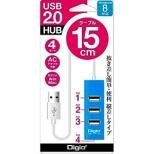 UH-2304N USBハブ  ブルー [USB2.0対応 / 4ポート / バスパワー]