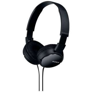 ヘッドホン MDR-ZX110 ブラック [φ3.5mm ミニプラグ]