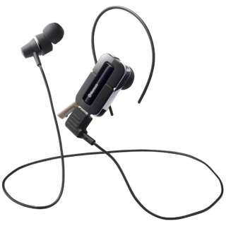 スマートフォン対応[Bluetooth3.0] 片耳/両耳対応ステレオヘッドセット USB充電ケーブル付 (ワイヤレス/延長・シルバー) BSHSBE32SV