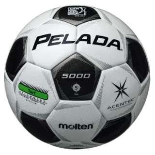 芝グラウンド用 サッカーボール ペレーダ5000(スノーホワイト×メタリックブラック/5号球)F5P5000