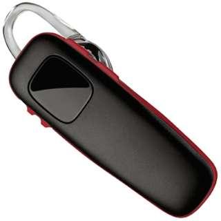スマートフォン対応[Bluetooth3.0] 片耳ヘッドセット USB充電ケーブル付 (ブラック/レッド) M70 M70-BR
