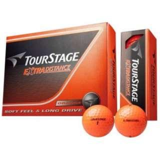 ゴルフボール TOURSTAGE EXTRA DISTANCE《1ダース(12球)/オレンジ 》 【オウンネーム非対応】