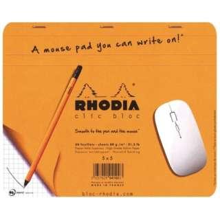 [メモ+マウスパッド] ロディア クリックブロック マウスパッド(19x23cm /5mm方眼 /30枚) cf194100 オレンジ
