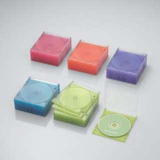 CD/DVD/Blu-ray対応スリムケース 1枚収納×50 5色 CCD-JSCS50ASO