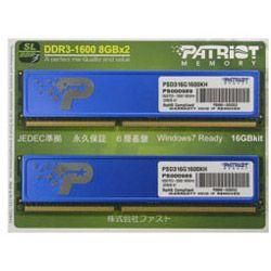 PSD316G1600KH [DDR3 PC3-12800 8GB 2枚組]