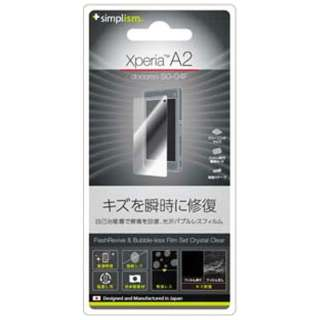 Xperia A2 / Xperia Z1 f用 瞬間傷修復&バブルレス保護フィルムセット クリスタルクリア [Simplism] TR-PFXPA2-FRCC