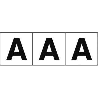 アルファベットステッカー 30×30 「A」 白 3枚入 TSN30A