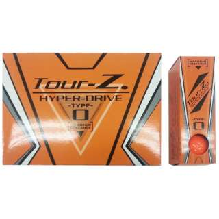 【公認球】ゴルフボール Tour-Z. HYPER-DRIVE -TYPE- O《1ダース(12球/オレンジ)》TZHD-BC1408 【オウンネーム非対応】
