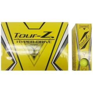 【公認球】ゴルフボール Tour-Z. HYPER-DRIVE -TYPE- Y《1ダース(12球/イエロー)》TZHD-BC1408 【オウンネーム非対応】