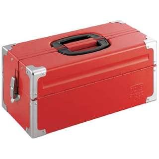 ツールケース(メタル) V形2段式 433X220X195mm レッド BX322