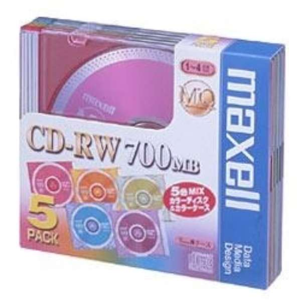 CDRW80MIX.1P5S データ用CD-RW MQシリーズ [5枚 /700MB]