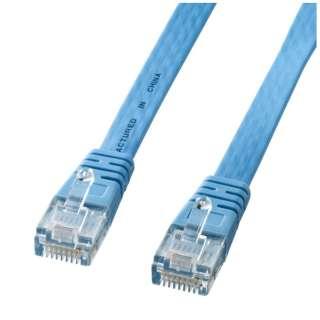 KB-FL6E-03LB LANケーブル ライトブルー [3m /カテゴリー6e /フラット]