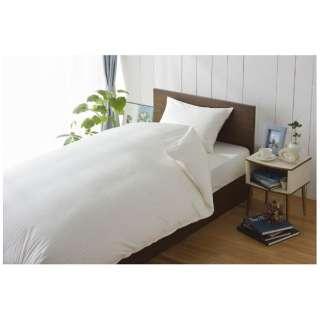 【ボックスシーツ】サテンストライプ セミダブルサイズ(綿100%/120×200×30cm/ホワイト)【日本製】