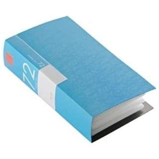 CD/DVDファイル ブックタイプ 72枚収納 ブルー BSCD01F72BL