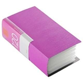 CD/DVDファイル ブックタイプ 120枚収納 ピンク BSCD01F120PK