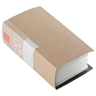 CD/DVDファイル ブックタイプ 120枚収納 ベージュ BSCD01F120BG