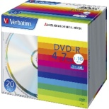 DHR47J20V1 データ用DVD-R シルバー [20枚 /4.7GB]