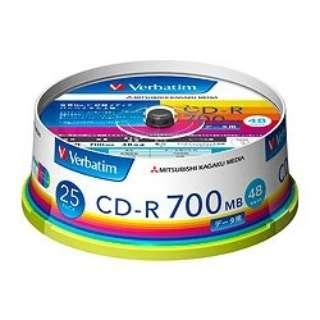 SR80FP25V1 データ用CD-R ホワイト [25枚 /700MB /インクジェットプリンター対応]