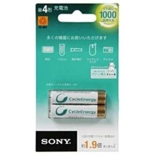 NH-AAA-2BKB 単4形 充電池 サイクルエナジー ゴールド [2本]