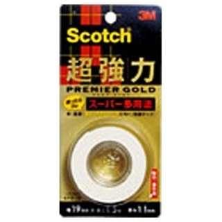 スコッチ 超強力両面テープ プレミアゴールド(スーパー多用途) KPS-19