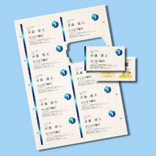 〔各種プリンタ〕 まわりがきれいな名刺カード 1000枚 (A4サイズ 10面×100シート・アイボリー) JP-MCCM01BG-1