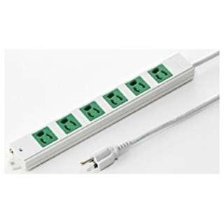 工事物件タップ 緑 (3ピン式・6個口・3m) TAP-K6-3G