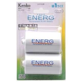 電池スペーサー 単3→単1(2個入)「ENERG(エネルグ)」U-#10-2B