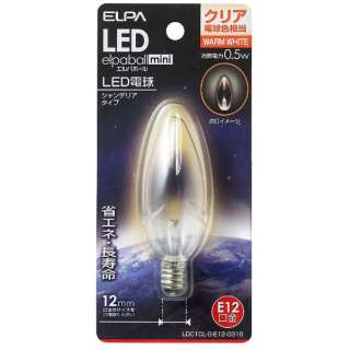 LDC1CL-G-E12-G316 LED装飾電球 LEDエルパボールmini クリア [E12 /電球色 /1個 /シャンデリア電球形]
