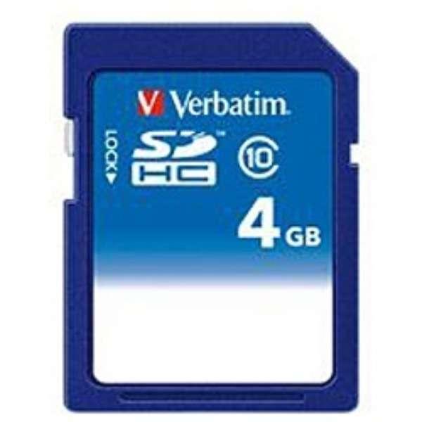 SDHCカード Verbatim(バーベイタム) SDHC4GJVB1 [4GB /Class10]