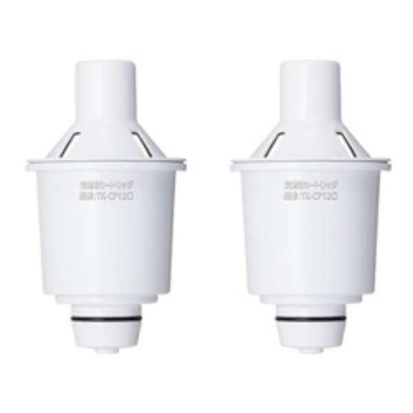 交換用カートリッジ ポット型浄水器 ホワイト TK-CP12C2 [2個]