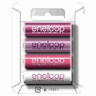 HR-3UTGB-4R 単3形 充電池 eneloop tones rouge(エネループトーンズ ルージュ) [4本]