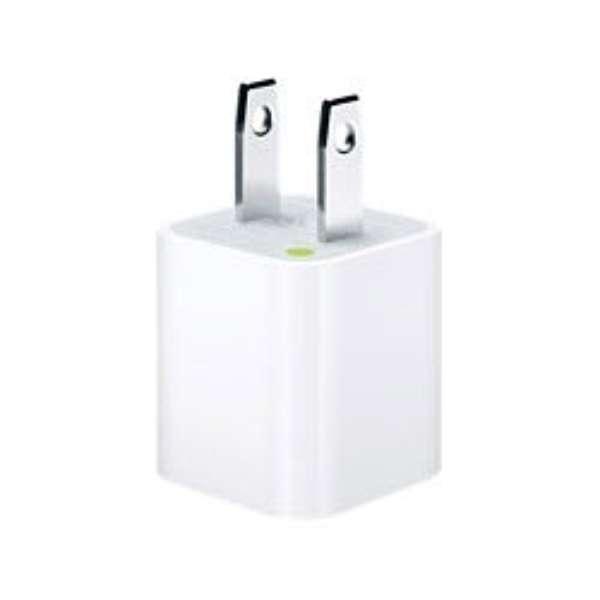 【純正】 iPhone / iPod対応[USB給電] AC - USB充電器 (ホワイト) MD810LL/A ホワイト