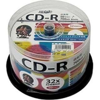 HDCR80GMP50 データ用CD-R Hi-Disc ホワイト [50枚 /700MB /インクジェットプリンター対応]