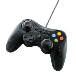 JC-U3613MBK 【ドラゴンクエストX/FF XIV:新生エオルゼア 推奨】ゲームパッド ブラック [USB /Windows /13ボタン]