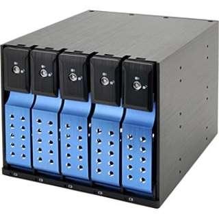 SATA3.5HDD リムーバブルラック iStarUSA BPN-DE Series 5Bayモデル(ブルー) BPN-DE350SS-BL