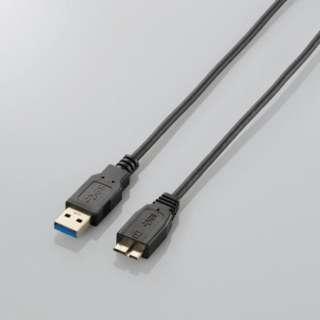 1.0m USB3.0ケーブル 【A】⇔【microB】 [極細タイプ] (ブラック) USB3-AMBX10BK