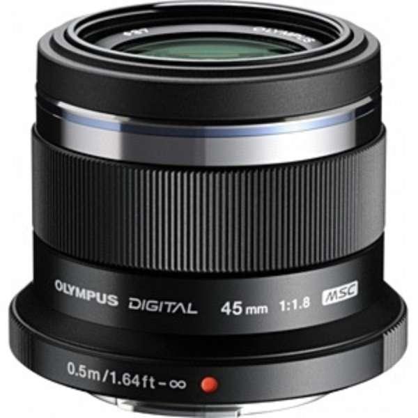 カメラレンズ 45mm F1.8 M.ZUIKO DIGITAL(ズイコーデジタル) ブラック [マイクロフォーサーズ /単焦点レンズ]
