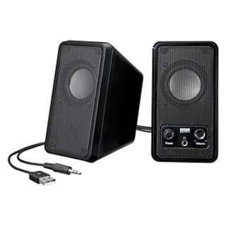 MM-SPL7UBK マルチメディアスピーカー ブラック [USB電源 /2.0ch]