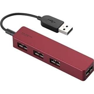 U2H-DS01B USBハブ  レッド [USB2.0対応 / 4ポート / バスパワー]