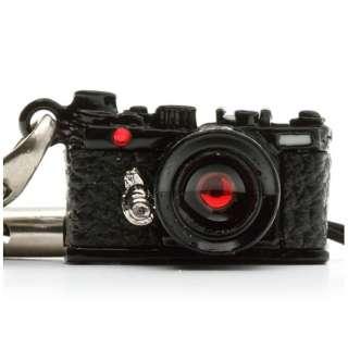 ミニチュアカメラストラップレンジファインダータイプ ブラック/レンズ スワロフスキー