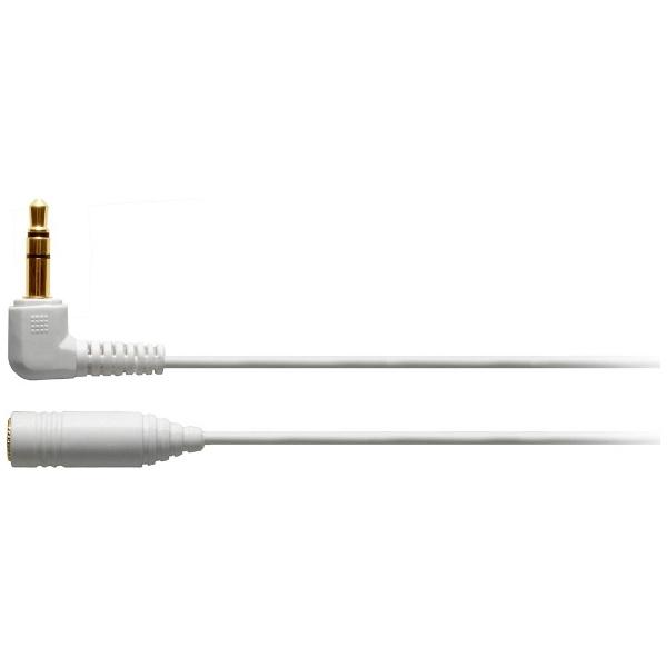 オーディオテクニカ ヘッドホン延長ケーブル L型ステレオミニプラグ⇔ステレオミニジャック/1.0m AT3A45L/1.0