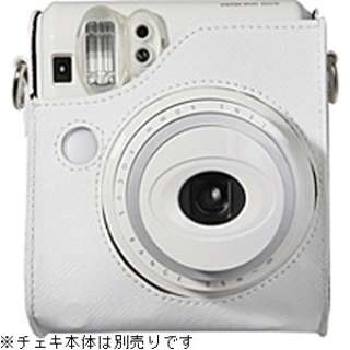 """カメラバッグ(速写ケース) """"チェキ"""" instax mini 50S用(ホワイト)[生産完了品 在庫限り]"""