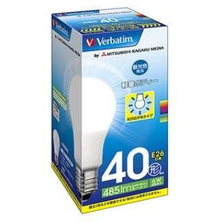 調光器非対応LED電球 「Verbatim」(一般電球形・全光束485lm/昼光色相当・口金E26) LDA6D-G/VP1