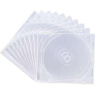 Blu-ray/DVD/CD対応スリム収納ケース 1枚収納×10 クリア FCD-PU10C