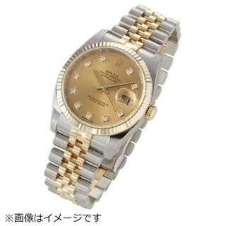 more photos bb23e 74412 ビックカメラ.com - メンズ腕時計 デイトジャスト 37 116233G シャンパンゴールド 【並行輸入品】
