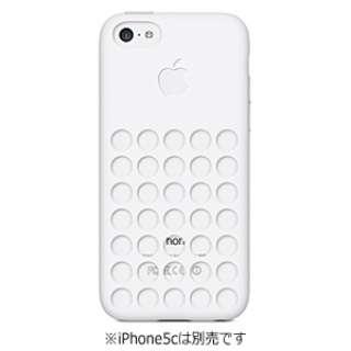 【純正】 iPhone 5c用 シリコンケース (ホワイト)
