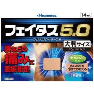【第2類医薬品】 フェイタス5.0大判サイズ(14枚) ★セルフメディケーション税制対象商品