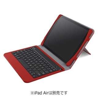 iPad Air用 QODEキーボードフォリオ (ブラック/レッド) F5L152qeC02