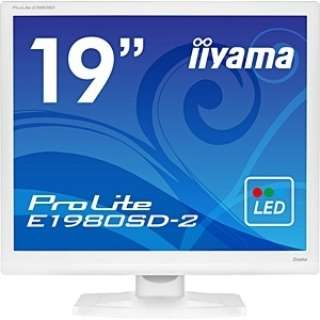 LEDバックライト搭載液晶モニター ProLite ピュアホワイト E1980SD-W2 [スクエア /SXGA(1280×1024)]